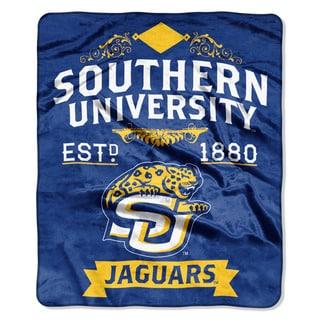 COL 670 Southern University 'Label' Raschel Throw