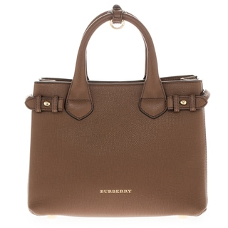 Burberry 'Small Banner' Leather and House Check Handbag