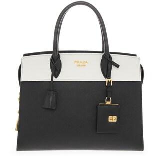 Prada 'Esplanade' Saffiano and Calf Leather Double Handle Tote Handbag