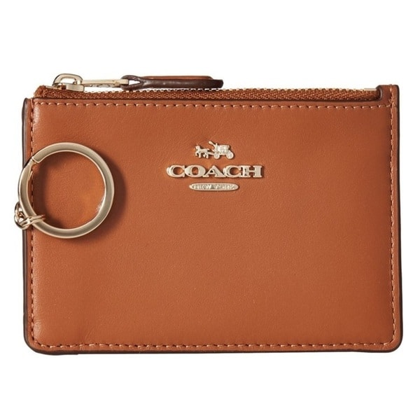 Coach Smooth Leather Mini ID Skinny - Saddle