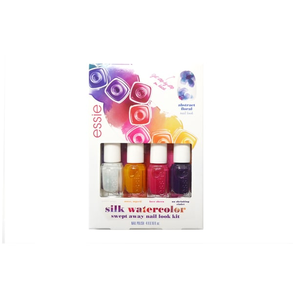 Essie Silk Watercolor Swept Away 4-piece Nail Polish Collection