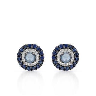 Vida 14k White Gold 5/8ct TW Sapphire Earrings