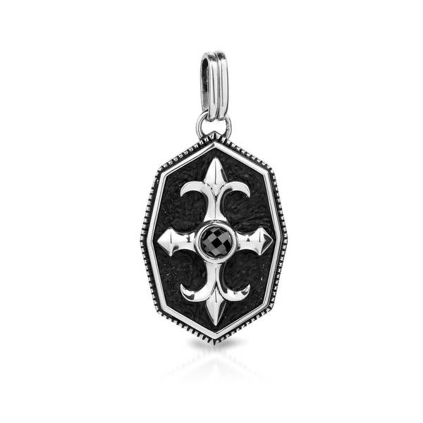 Currency Sterling Silver Men's Crystal Pendant