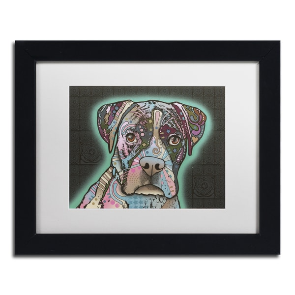 Dean Russo 'Love Thy Boxer' Matted Framed Art