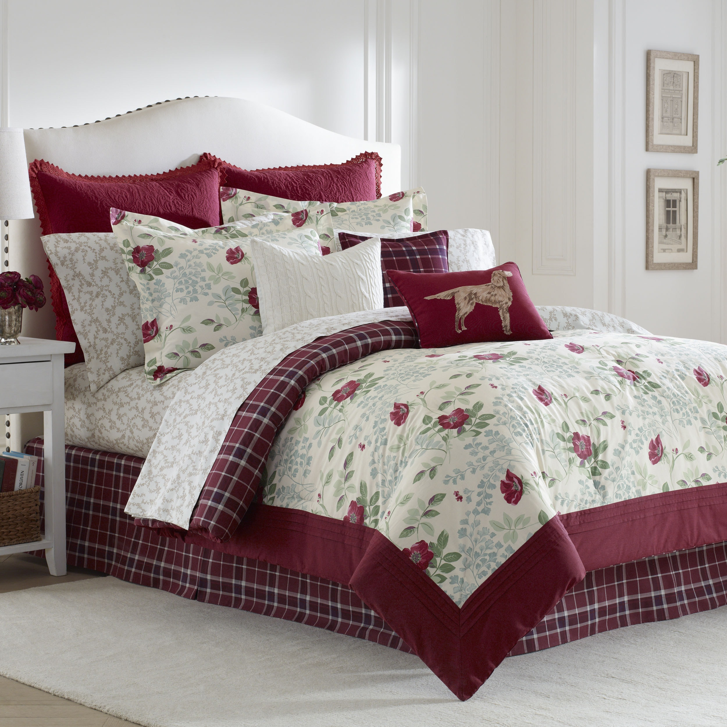 Laura Ashley Ella Cotton 4-pc Comforter Set