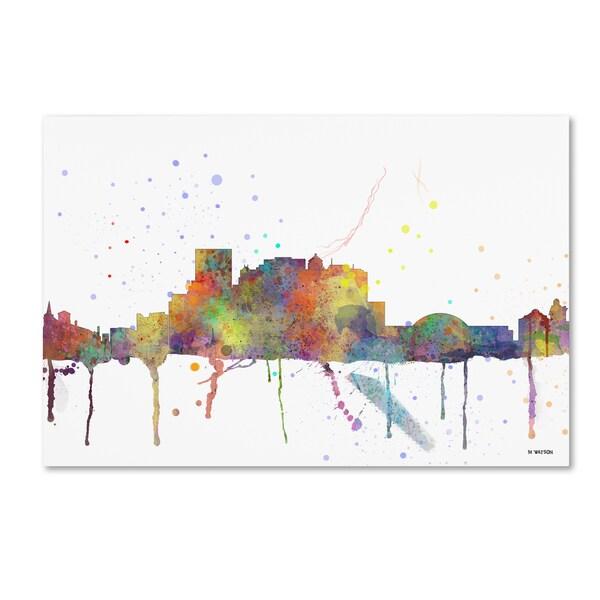 Marlene Watson 'El Paso Mexico Skyline Mclr-1' Canvas Art