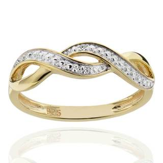 Sterling Silver Two-Tone Diamond Accent Infinity Ring