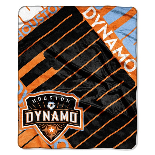MLS 670 Houston Dynamo Scramble Raschel Throw
