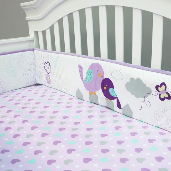 Baby's First Love Birds Crib Bumper Set