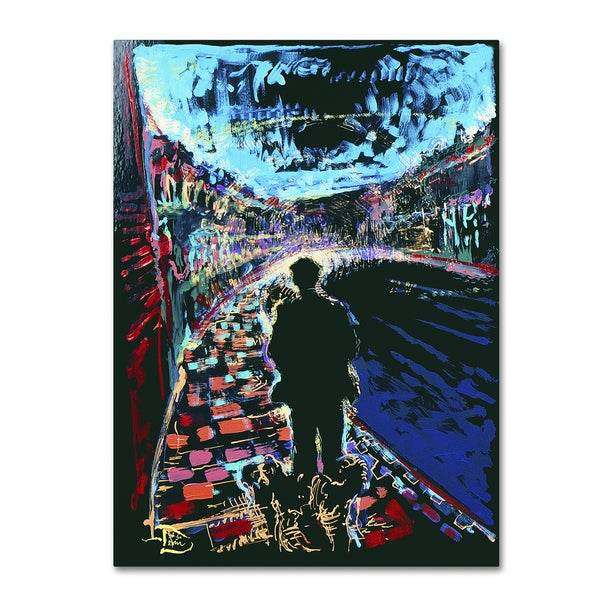 Lowell S.V. Devin 'The Existential Man and His Dog Sartre' Canvas Art