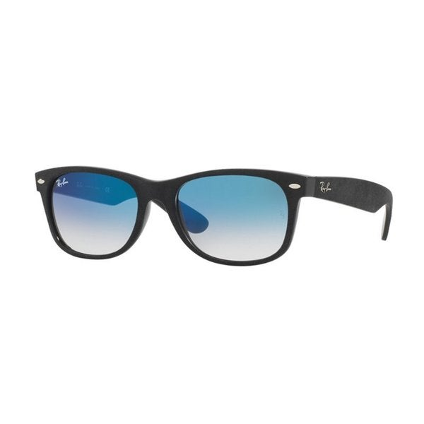 Ray-Ban RB2132 62423F New Wayfarer Black Frame Light Blue Gradient 55mm Lens Sunglasses