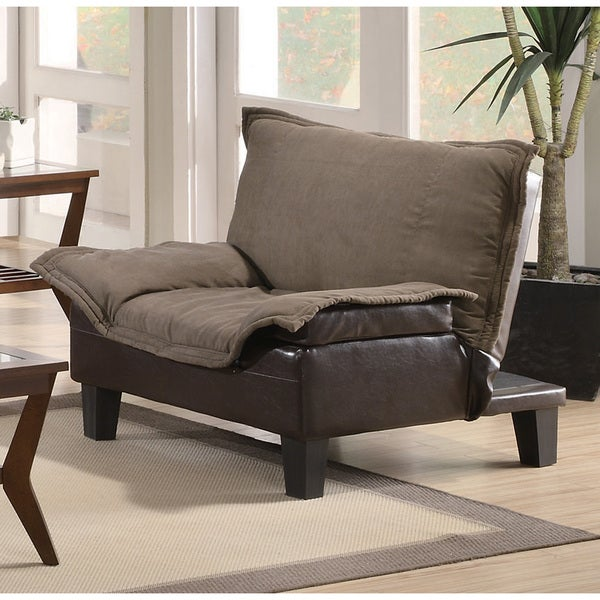 Brown Microfiber Vinyl Lay-down Chair