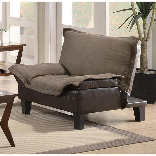 Brown Microfiber Vinyl Lay-down Chair