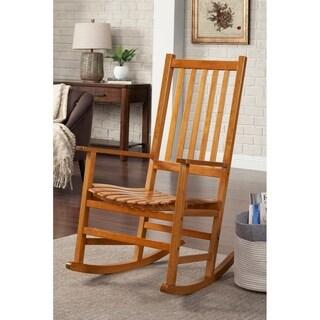 "Coaster Company Oak Wood Rocking Chair - 32.25"" x 19.25"" x 44.50"""