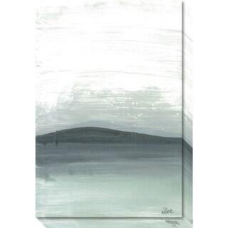 Canvas Art Gallery Wrap 'Silver Silence: The Mountain' by Joan Davis 20 x 30-inch