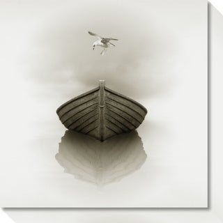 Canvas Art Gallery Wrap 'Time Out 1 (Boat)' by Carlos Casamayor 20 x 20-inch