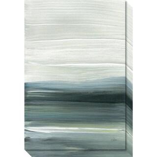 Canvas Art Gallery Wrap 'Silver Silence: Opal Sky' by Joan Davis 20 x 30-inch