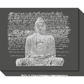 Canvas Art Gallery Wrap 'Zen Buddha Sayings' by L.A. Pop Art 20 x 16-inch