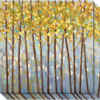 Canvas Art Gallery Wrap 'Glistening Tree Tops' by Libby Smart 20 x 20-inch