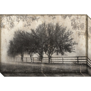 Canvas Art Gallery Wrap 'Morning Shades I: Countryside' by Pela + Silverman 30 x 20-inch