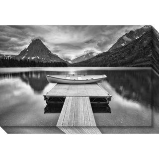 Canvas Art Gallery Wrap 'Two Medicine Lake' by Jason Savage 30 x 20-inch