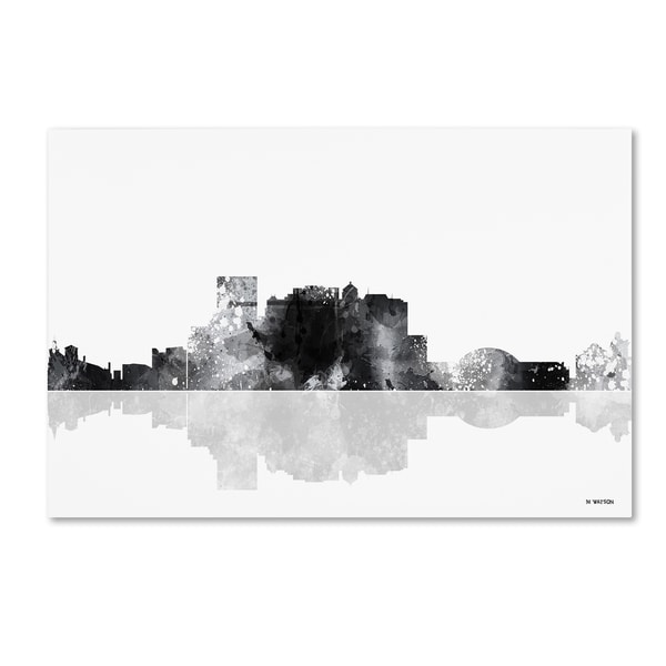 Marlene Watson 'El Paso Mexico Skyline BG-1' Canvas Art