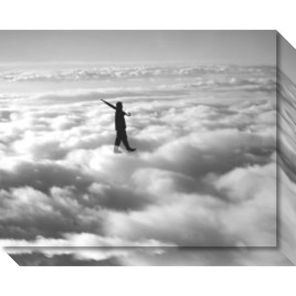 Canvas Art Gallery Wrap 'Walk in the Clouds' by Urban Cricket 21 x 17-inch