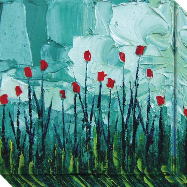 Canvas Art Gallery Wrap 'Stories from a Field Act 22' by Aja Trier 20 x 20-inch