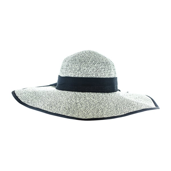 Faddism Women's Woven Straw Sun Hat With Big Ribbon
