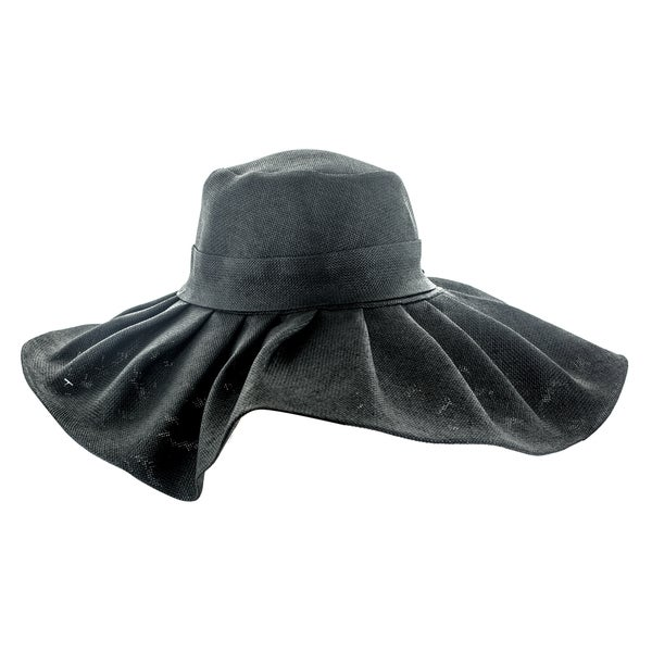 Faddism Women's Floppy Sun Hat with Ruffled Rim