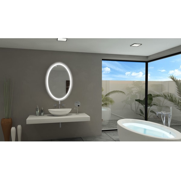 IB Backlit Oval Bathroom Mirror