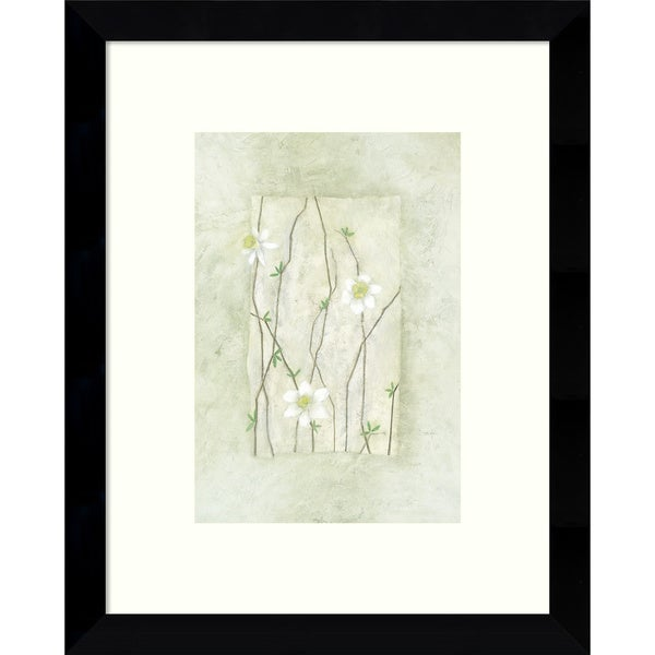 Framed Art Print 'Entwined Grace (Daisies)' by Dominique Gaudin 9 x 11-inch