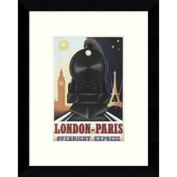 Framed Art Print 'London-Paris Overnight Express' by Steve Forney 9 x 11-inch