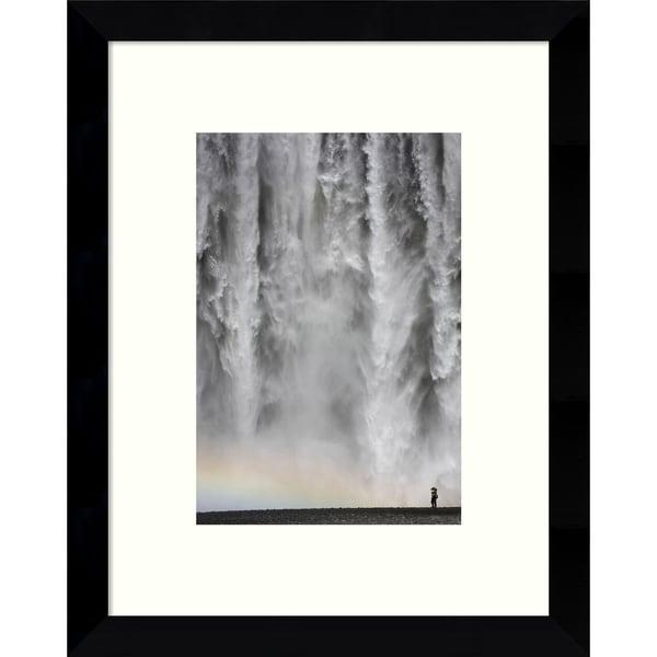 Framed Art Print 'Iceland 113: Waterfall' by Maciej Duczynski 9 x 11-inch
