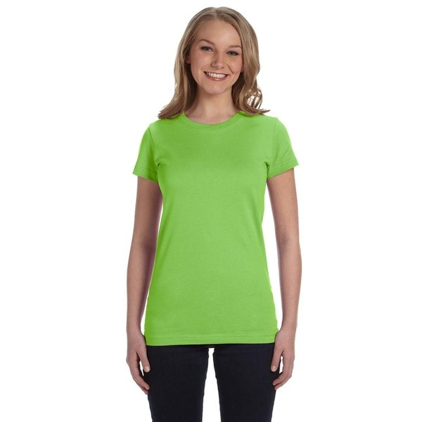 Juniors Key Lime Fine Jersey T-shirt