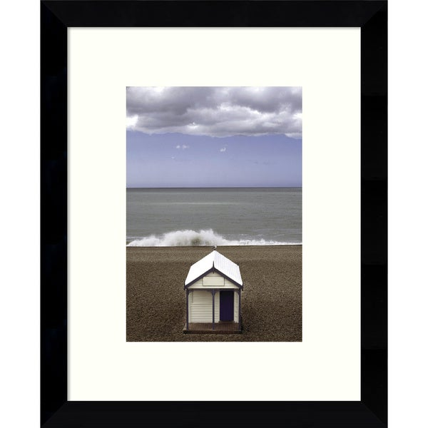 Framed Art Print 'The Seagull (Beach)' by Gill Copeland 9 x 11-inch