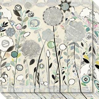 Canvas Art Gallery Wrap 'Interlocking Shadows (Floral)' by Candra Boggs 20 x 20-inch