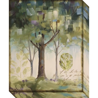 Canvas Art Gallery Wrap 'Hopes & Greens III: Tree' by Lisa Audit 16 x 20-inch