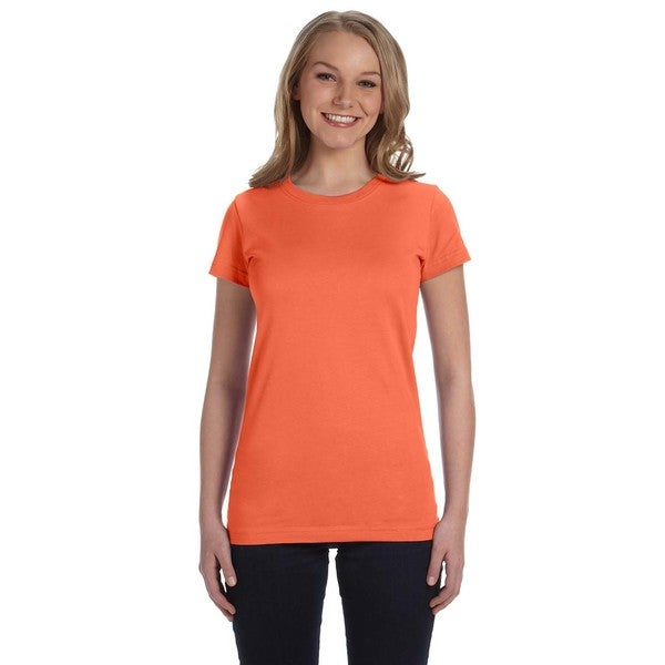 Juniors Papaya Fine Jersey T-shirt