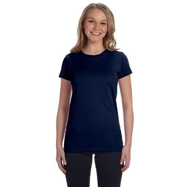 Juniors' Fine Jersey T-Shirt Navy