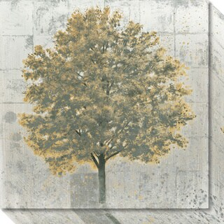 Canvas Art Gallery Wrap 'Neutrality Gold Tree' by James Wiens 20 x 20-inch