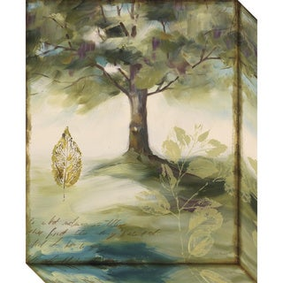 Canvas Art Gallery Wrap 'Hopes & Greens IV: Tree' by Lisa Audit 16 x 20-inch