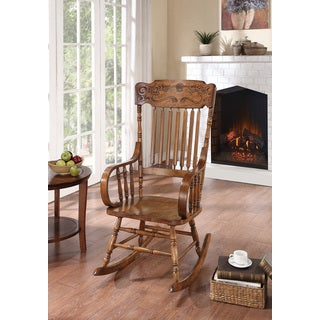 Oak Carved Rocker Chair