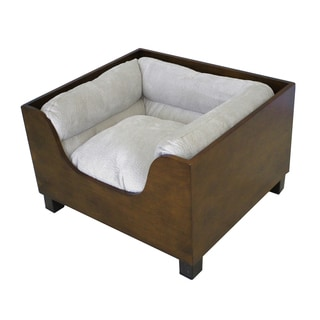 HomePop Decorative Pet Bed with Wood Panel