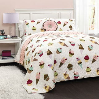 Lush Decor Cupcake Ice Cream 3 Piece Quilt Set