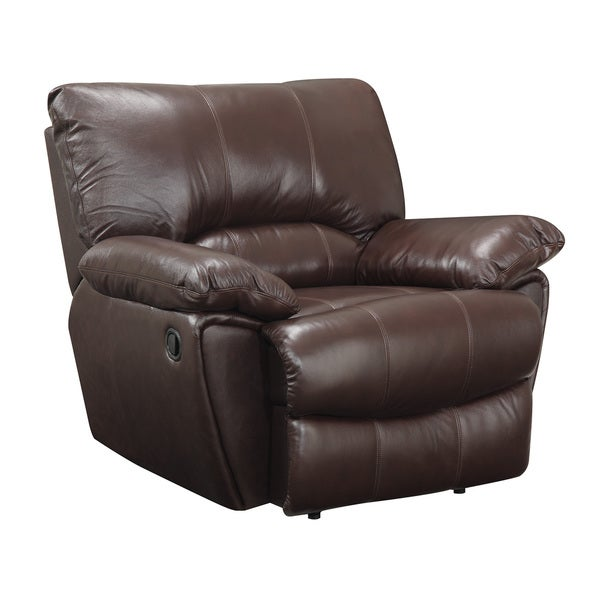 Power Recline Brown Leather Recliner Chair 19562696