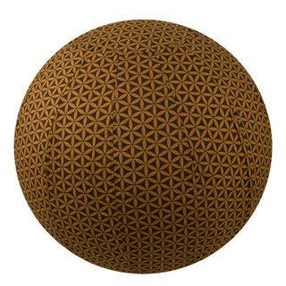 Handmade Yoga Ball Cover Chocolate Flower of Life Design (Thailand)