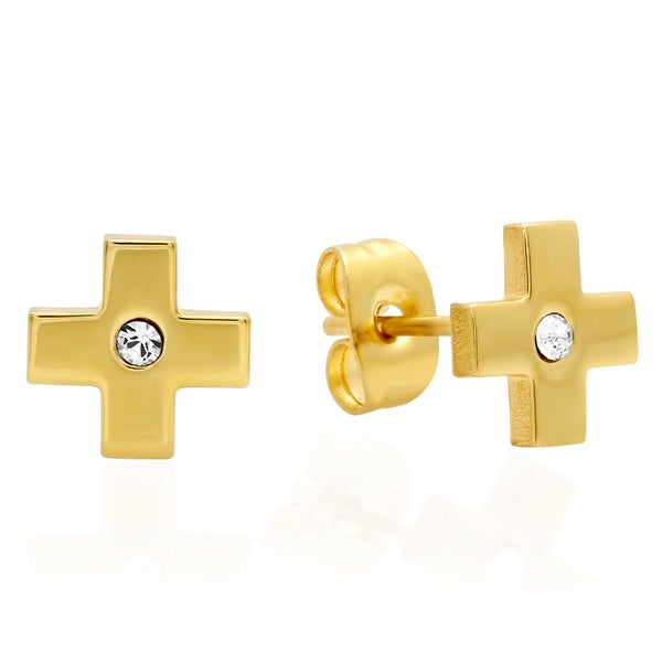 Swarovski Elements Cross Studs