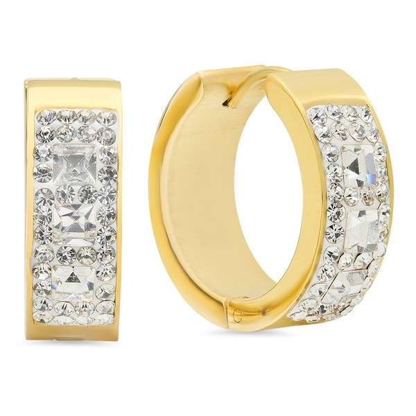 18k Goldplated CZ Hoops