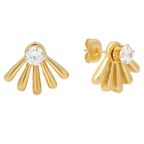 18k Gold Plated Fan Ear Jacket